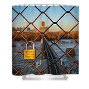 Rva Lock Bridge Shower Curtain