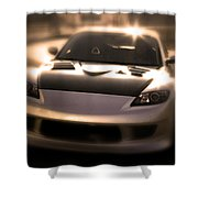 Rx8 Glow Shower Curtain