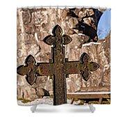 Rya Chapel Grave Marker Shower Curtain
