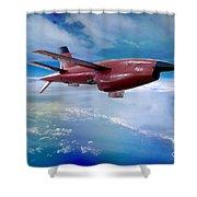 Ryan Bqm-34 Firebee Target Drone Missile Shower Curtain