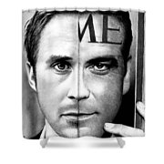 Ryan Gosling And George Clooney Shower Curtain
