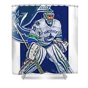 Ryan Miller Vancouver Canucks Oil Art Shower Curtain