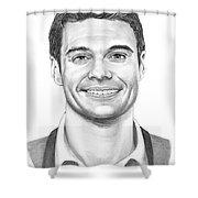 Ryan Seacrest Shower Curtain