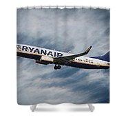Ryanair Boeing 737 Shower Curtain
