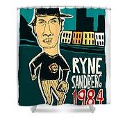 Ryne Sandberg Chicago Cubs Shower Curtain