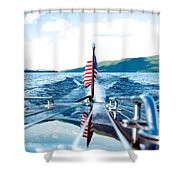 Ryp'd View Of Lake George, Ny Shower Curtain