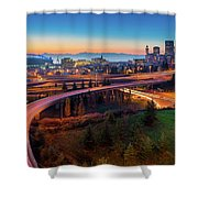 S For Seattle Shower Curtain