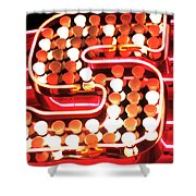 S In Lights Shower Curtain