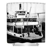 S. P. Ferry Alameda At San Francisco Circa 1940 Shower Curtain