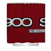 Saab 900 S Logo Shower Curtain