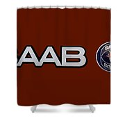 Saab Logo And Emblem Shower Curtain
