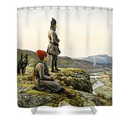 Saami Couple With Dog Shower Curtain
