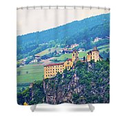 Saben Abbey On High Cliff Near Klausen View Shower Curtain