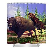 Saber-tooth Tiger Shower Curtain