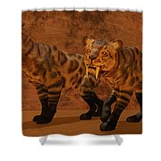 Saber-toothed Tiger Cave Shower Curtain