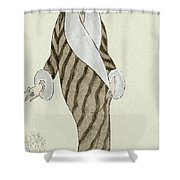 Sable Coat With White Fox Trim Shower Curtain