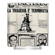 Sacco And Vanzetti Front Page Shower Curtain