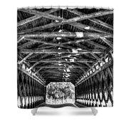 Sachs Bridge - Gettysburg - Bw-hdr Shower Curtain