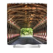 Sachs Bridge - Gettysburg - Vert.-hdr Shower Curtain
