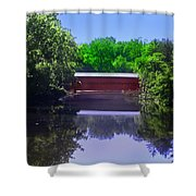 Sachs Covered Bridge In Gettysburg  Shower Curtain