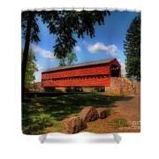 Sach's Covered Bridge Shower Curtain by Lois Bryan