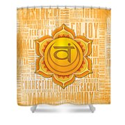 Sacral Chakra - Awareness Shower Curtain