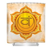 Sacral Chakra Shower Curtain by David Weingaertner