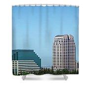 Sacramento California Cityscape Skyline On Sunny Day Shower Curtain