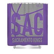 Sacramento Kings City Poster Art Shower Curtain