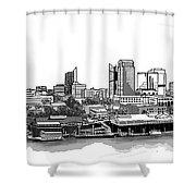 Sacramento Skyline N. Shower Curtain