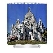 Sacre Coeur In The Montmartre Area Of Paris, France  Shower Curtain