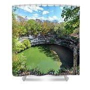 Sacred Cenote In Chichen Itza Shower Curtain