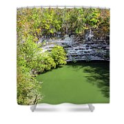 Sacred Cenote Vertical View Shower Curtain