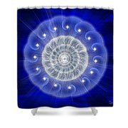 Sacred Geometry 77 Shower Curtain