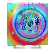 Sacred Healing Rays Of Cho Ku Rei Shower Curtain