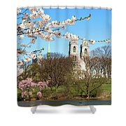 Sacred Heart And Branch Brook Cherry Blossoms  Shower Curtain