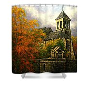 Sacred Heart Chapel Paris Shower Curtain