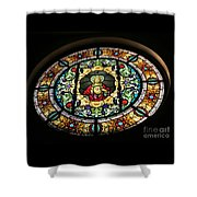 Sacred Heart Of Jesus Stained Glass Window Shower Curtain