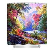 Sacred Landscape Meditation Shower Curtain