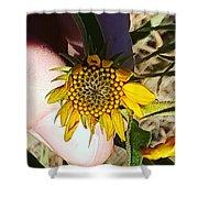 Sacred Sunflower Shower Curtain