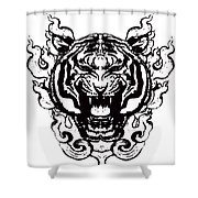 Sacred Tiger Shower Curtain