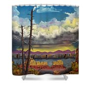 Sacred View Shower Curtain