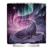 Sad Lonely Seal Shower Curtain