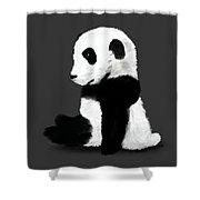 Sad Panda Shower Curtain