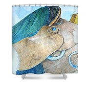 Saddle Back Shower Curtain