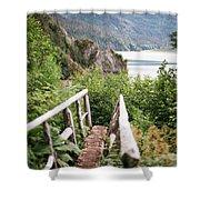 Saddle Trail Bridge Shower Curtain