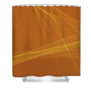 Safari Computer Graphic Line Pattern Shower Curtain