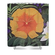 Safari Orange Shower Curtain by Melanie Blankenship