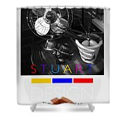 Safari Poster Shower Curtain