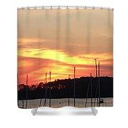 Safe Harbor Sunset Shower Curtain